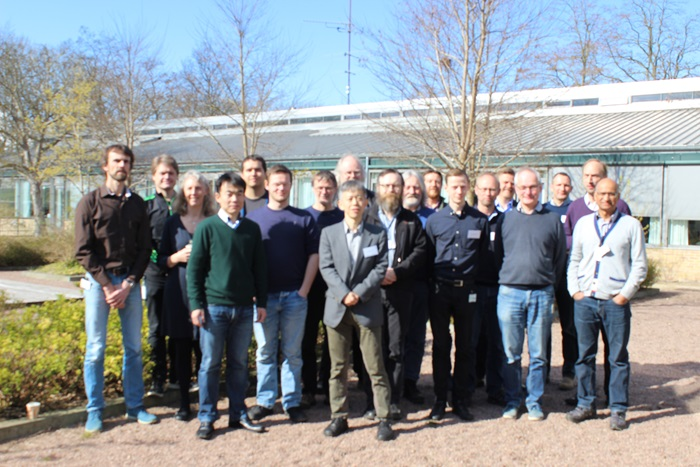 The group attending the kick-off meeting at DTU