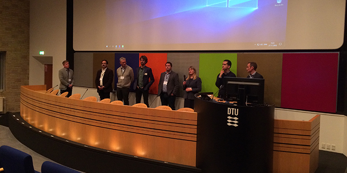 Photo showing the panel from the workshop